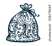 isolated santa bag  with floral ...   Shutterstock .eps vector #328178669