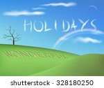 holiday background vector... | Shutterstock .eps vector #328180250
