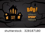 simple halloween card with a... | Shutterstock .eps vector #328187180