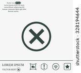 delete icon. cross sign in... | Shutterstock .eps vector #328194644
