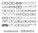set of different glasses on... | Shutterstock . vector #328204253