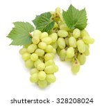 bunch of green grapes isolated... | Shutterstock . vector #328208024