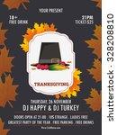 happy thanksgiving flyer.... | Shutterstock .eps vector #328208810