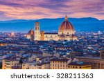 the twilight of florence in... | Shutterstock . vector #328211363