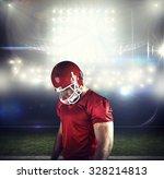 american football player... | Shutterstock . vector #328214813