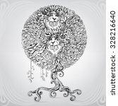 fantastic tree in an ornament | Shutterstock .eps vector #328216640