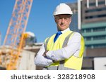 confident construction engineer ... | Shutterstock . vector #328218908