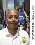 NEW YORK - JUNE 28: Bill Thompson mayoral candidate of New York City  attends pride parade on June 28 2009 in New York City. - stock photo