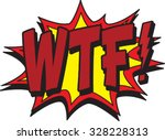 wtf comic | Shutterstock .eps vector #328228313