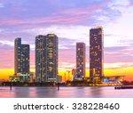 miami florida at sunset ...   Shutterstock . vector #328228460