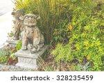 a lion's statue in bali ... | Shutterstock . vector #328235459