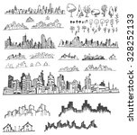 doodle of cityscape hand draw... | Shutterstock .eps vector #328252133