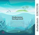 Underwater Background Landscap...