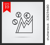 icon of currency rate graph... | Shutterstock .eps vector #328254680