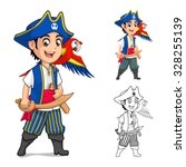 kid pirate cartoon character... | Shutterstock .eps vector #328255139