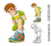 perspective view of kid shoes... | Shutterstock .eps vector #328255148
