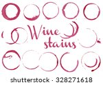vector wine stains | Shutterstock .eps vector #328271618