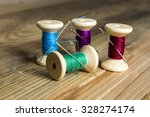 Spools Of Thread With Needles...