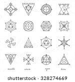 set of geometric shapes. trendy ...   Shutterstock .eps vector #328274669