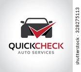 Stock vector garage logo automotive check logo vector logo template 328275113