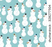 Snowman Seamless Pattern....