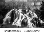 Waterfall Of Tufs Near The Jur...