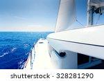 Catamaran Deck At Sunny Day
