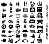 vector car parts set icons  | Shutterstock .eps vector #328292030