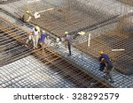 worker in the construction site ... | Shutterstock . vector #328292579