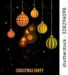 happy christmas and  new year... | Shutterstock .eps vector #328296098