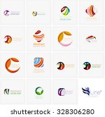 set of abstract wavy elements.... | Shutterstock .eps vector #328306280