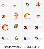 set of abstract wavy elements.... | Shutterstock . vector #328306319