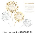 vector gold and silver... | Shutterstock .eps vector #328309256