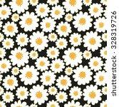 White Daisies Seamless Pattern...