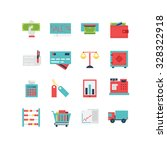 a set of various finance icons  ... | Shutterstock .eps vector #328322918