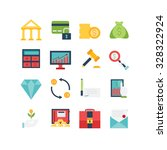 a set of various finance icons  ... | Shutterstock .eps vector #328322924