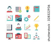 a set of management related... | Shutterstock .eps vector #328322936