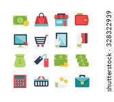 a set of various finance icons  ... | Shutterstock .eps vector #328322939