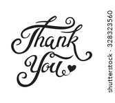 thank you hand drawn lettering... | Shutterstock .eps vector #328323560
