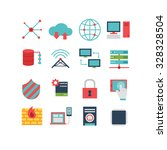 a set of computer related icons ... | Shutterstock .eps vector #328328504