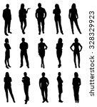 set of people vector... | Shutterstock .eps vector #328329923