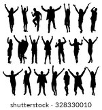 set of excited people... | Shutterstock .eps vector #328330010
