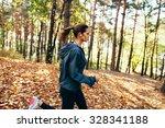 runner caucasian woman wearing... | Shutterstock . vector #328341188