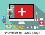 healthcare medical expense... | Shutterstock .eps vector #328342034