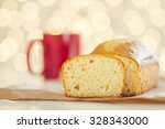 christmas breakfast with pound... | Shutterstock . vector #328343000