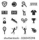 tennis simply symbol for web... | Shutterstock .eps vector #328345298