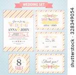 wedding invitation template ... | Shutterstock .eps vector #328349054