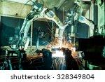 team welding robots represent... | Shutterstock . vector #328349804