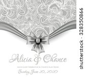 wedding invitation card | Shutterstock .eps vector #328350866