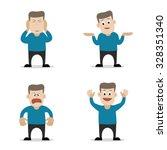 vector flat illustration of... | Shutterstock .eps vector #328351340